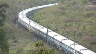 Breathtaking view of Andhra Pradesh Express speeding with a WAP-7!