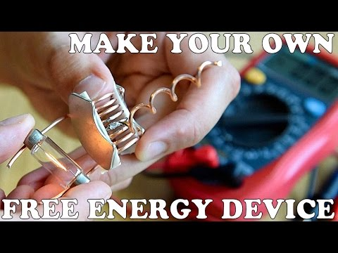 how to make a free energy device, cheap and easy thumbnail