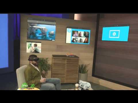 Microsoft HoloLens demo onstage at BUILD 2015