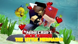 Minecraft Adventure - JACK KISSES THE LITTLE MERMAID!!!