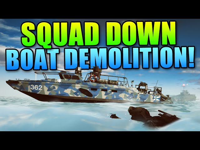 Squad Down - Stealthly Boat Demolition! (LevelCap Chaboyy Azzy Matimio Byze)