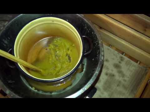 Вощение древесины льняным маслом