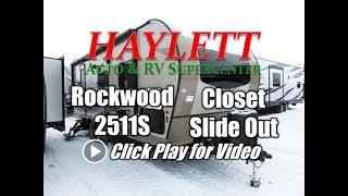 2018 Rockwood 2511S Mini Lite Ultralite Couple's Rear Bath Closet Slide Travel Trailer