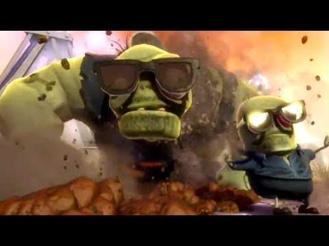 Plants vs Zombies Garden Warfare SUPER GIGA-GARGANTUAR Epic Final Boss Fight Gameplay (Xbox One/PC)