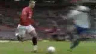 Distin foul on Ronaldo