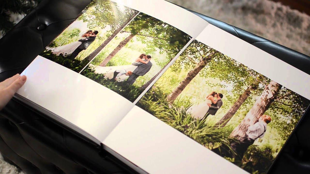 Italian Seamless Wedding Album With Crystal Glance Cover Photographed In Kaleden BC Okanagan