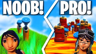 NOOB vs PRO vs HACKER Deathrun Challenge! (Fortnite Creative Mode)