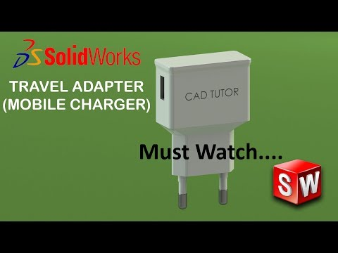 Solidworks Tutorial 41 | TRAVEL ADAPTER (Mobile Charger) 3D Modeling | In Solidworks