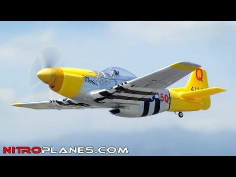 New Airfield P-51 Mustang Brushless Warbird with Retracts Review