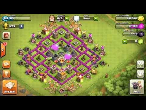 Clash of Clans best town hall 7 defence / Base set up