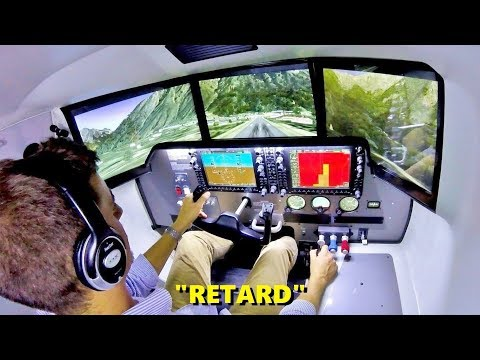 SLOPED Runway in a Full-Motion Flight Simulator! (VirtualFly OVO-04)