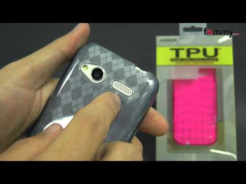Amzer&reg Luxe Argyle TPU Soft Gel Skin Case for HTC Radar Review in HD