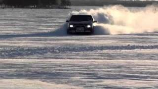 S70 AWD drifting and running on snow