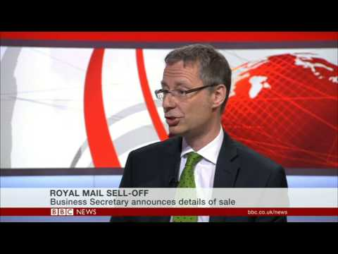 Stephen Gibson of SLG Economics Ltd discusses Royal Mail privatisation on BBC News
