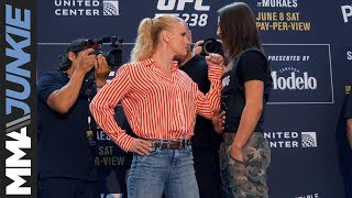 UFC 238: Valentina Shevchenko, Jessica Eye face off at media day in Chicago