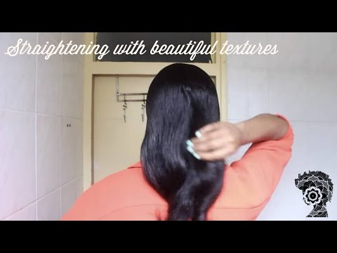 Straightening Hair with Beautiful Textures TMS | Tutorial and Review