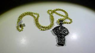 Labmadejewelry viyoutube lab made black and yellow diamond stewie pendant aloadofball Choice Image