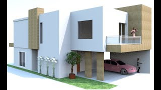 How to Build Modern House in Sweet Home 3D with Floor Plan