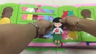 Quiet Book - Sách vải cho bé (2)- sách vải của bé Lena-Bảo Ngân