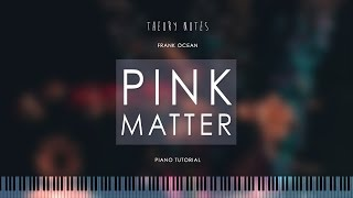 How to Play Frank Ocean - Pink Matter | Theory Notes Piano Tutorial