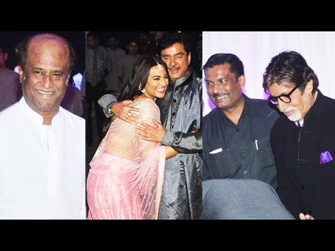 Bollywood Stars At Sonakshi Sinha's Brother Kussh Wedding Reception