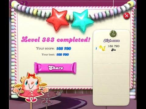 Candy Crush Saga Level 383 ★★ NO BOOSTER