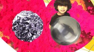 Casting Mirror Polished Aluminum Foil Ball from Aluminum (Japanese Aluminum Foil ball..كره الالمنيوم