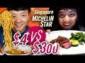 Singapore MICHELIN STAR Food Tour $4 NOODLES vs. $300 BBQ | B...