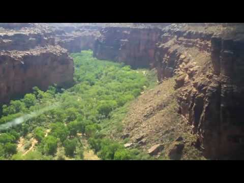 Helicopter ride out of Supai Arizona