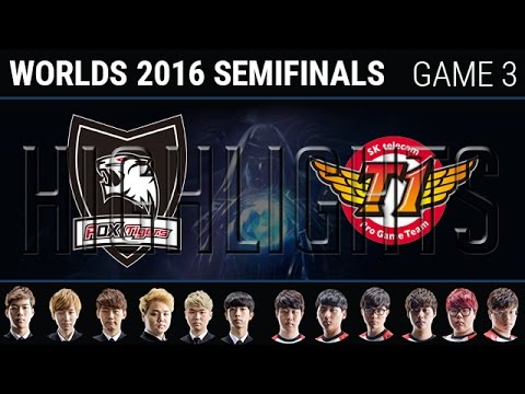 ROX vs SKT Game 3 Semi-final Highlights, S6 Worlds 2016 Semifinals, ROX Tigers vs SK Telecom T1 G3