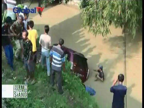 Ditinggal sopir minum kopi, sebuah mobil tercebur ke sungai - BIS 27/05