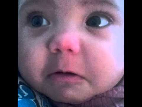 Pouting Baby Video Baby Pouting Scared of Cows