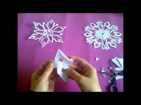 Видеоурок как сделать снежинку