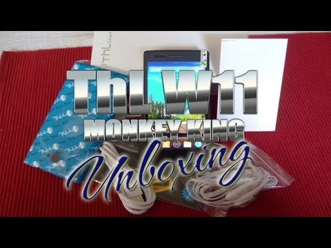 Thl W11 Monkey King Unboxing -  Mt6589t Quad-core 1.5ghz -- Antelife - Colonelzap video