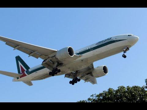 Alitalia Boeing 777-200ER [I-DISU] landing in LAX