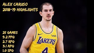 Alex Caruso 2018-19 Season Highlights [HD]
