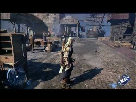 Assassin's Creed III - E3 2012: Wii U Marketplace Massacre Gameplay