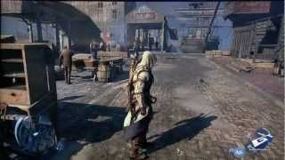 Assassin's Creed III - E3 2012_ Wii U Marketplace Massacre Gameplay