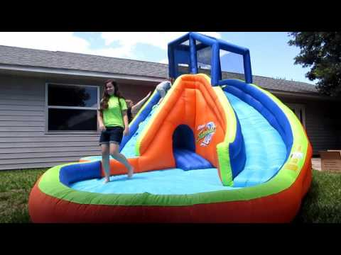 Bounce House Water Slide - Banzai Sidewinder Falls Waterslide