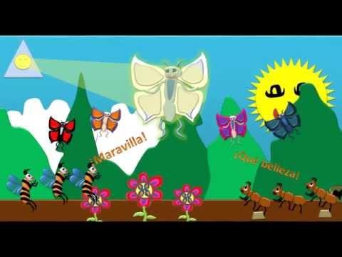 Cuento la oruga y la mariposa blanca youtube for Caracol de jardin que come