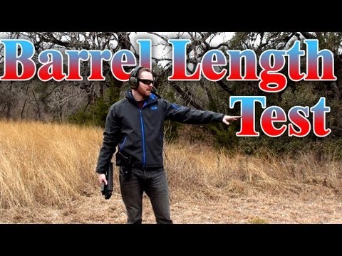 Barrel Length vs Penetrating Power, 9mm