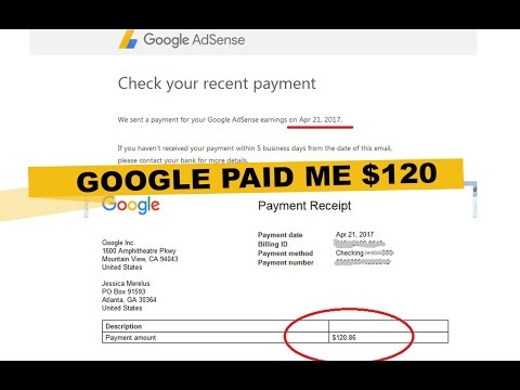 Google Adsense Paid Me $120! SEE HOW I DID IT!