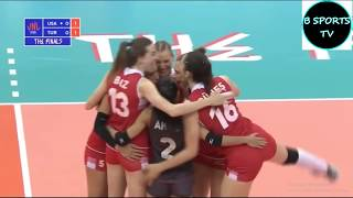 USA vs Turkey  Women's  VNL 2018 (FİNAL 6)
