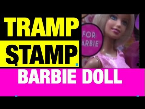 Totally Styling Tattoo Barbie Doll Tramp Stamp FAIL Toy Product Review by