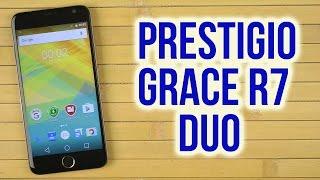 Распаковка Prestigio MultiPhone Grace R7 7501 Duo Gold