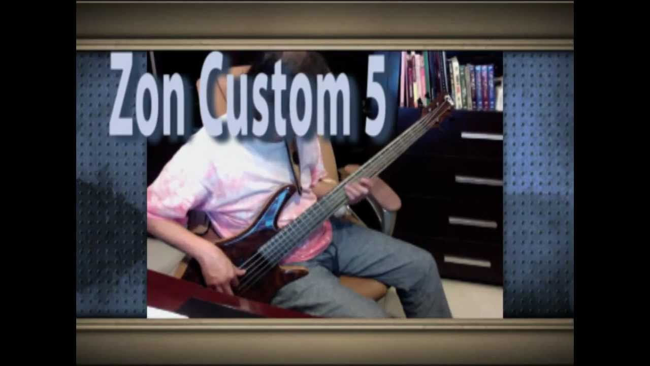 Zon Bass Custom 5 Sound Preview Youtube