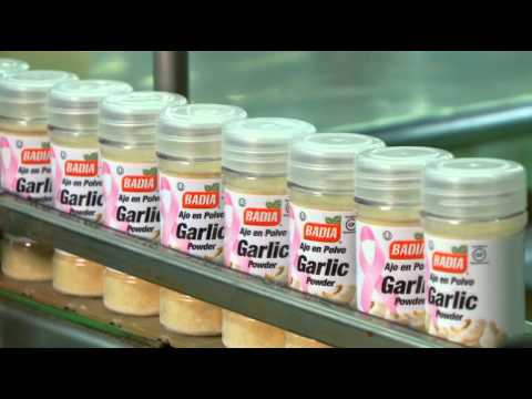 BADIA SPICES GARLIC PROMOTES BREAST CANCER AWARENESS