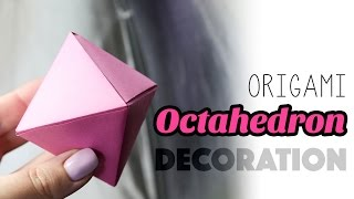 Origami Octahedron Decoration Box Tutorial ♦ DIY ♦