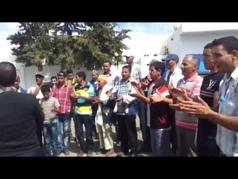وقفة احتجاجية لسكان دوار الرشاقة أمام مقر جماعة قلعة بوقرة إقليم وزان