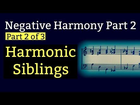 Part 2 Negative Harmony Chords & Harmonic Siblings
